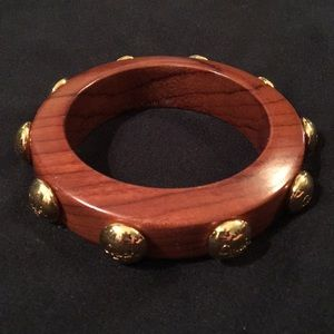 Coach wooden bangle bracelet